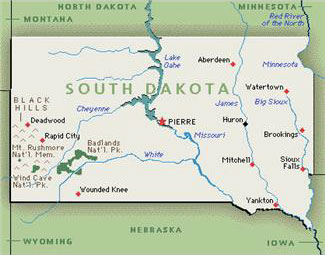 ReptileShowGuidecom Reptile Or Amphibian Shows And Events In - South dakota physical map